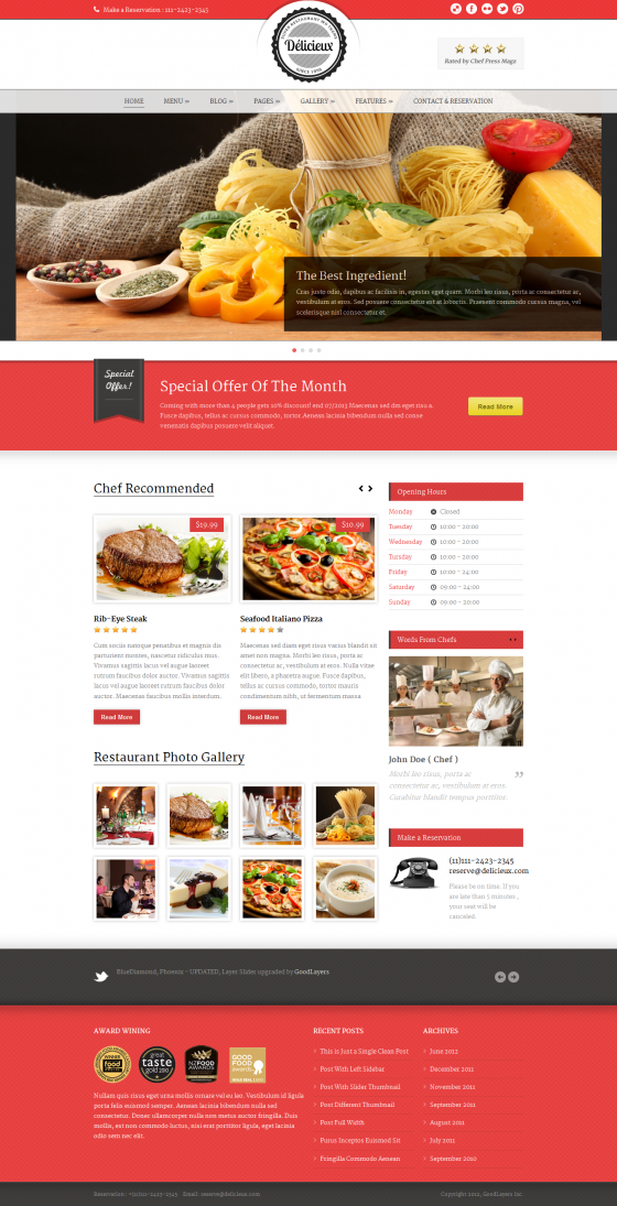 Delicieux - ThemeForest