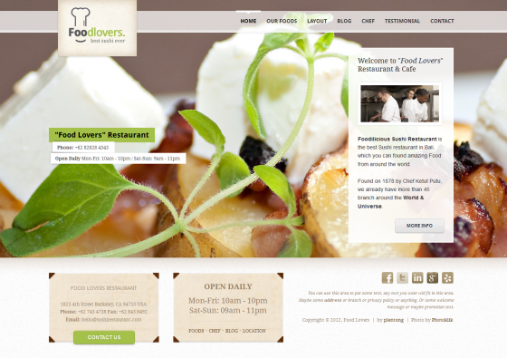 Foodlovers - ThemeForest