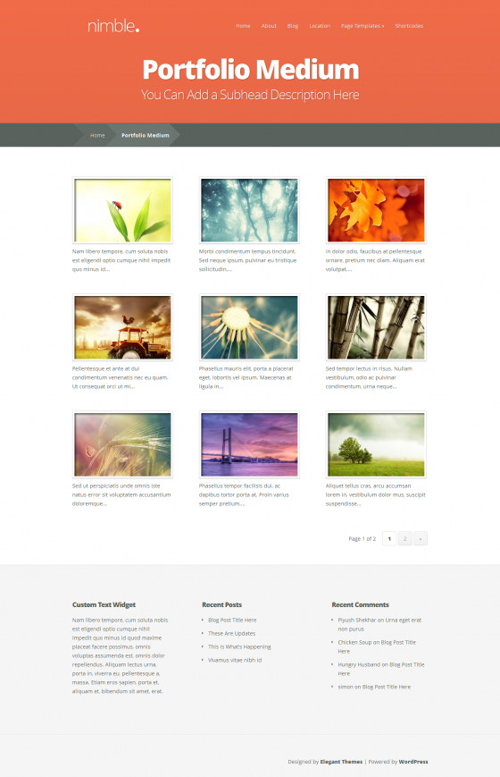 Nimble - Elegant Themes