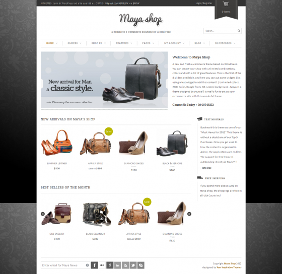 Maya Shop - ThemeForest