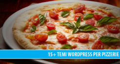 15+ temi WordPress professionali per Pizzerie