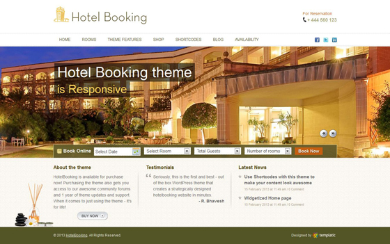 Hotel Booking - Templatic