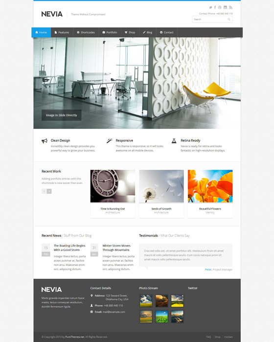 Nevia - ThemeForest