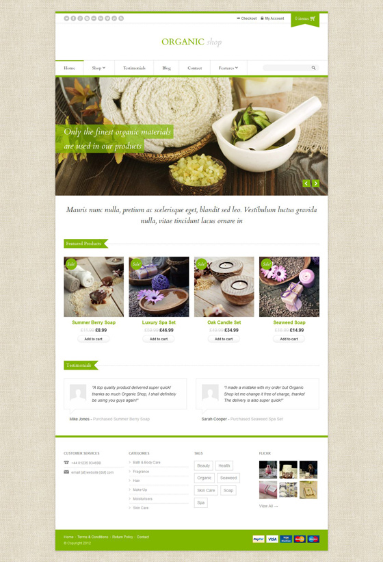 Organic Shop - ThemeForest