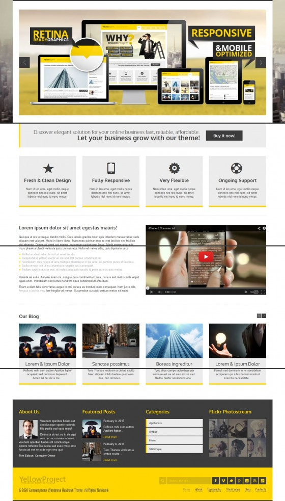 YellowProject - ThemeForest