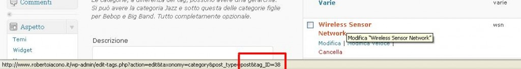 trovare ID categoria in WordPress,trovare ID categoria in WordPress,