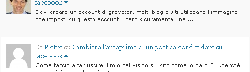 impostare avatar personalizzato nei commenti dei blog