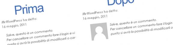 Inserire il box avatar nei commenti in blog wordpress