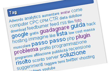 Personalizzare i tag del widget Tag Cloud in wordpress