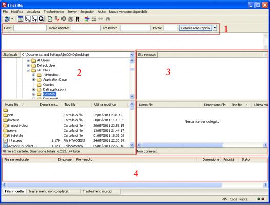 Creare backup dei file del sito-blog con filezilla