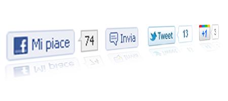 Come inserire i pulsanti Mi piace, Google +1 e Tweet su una sola riga