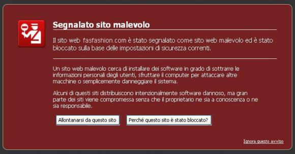 Sito malevolo, come risolvere questo problema, eliminare il malware