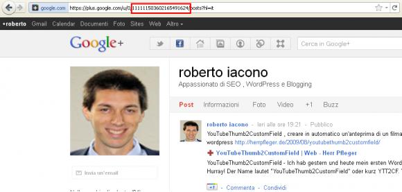 google plus id profilo