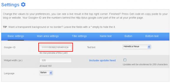 widget box google plus