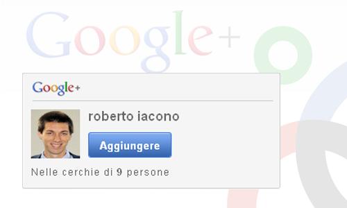 Inserire widget box Google Plus in blog WordPress