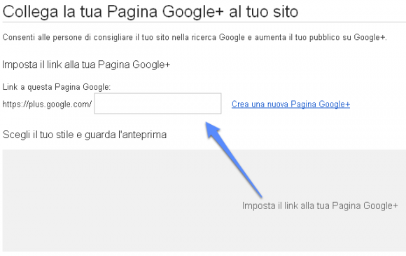 collega pagina google plus