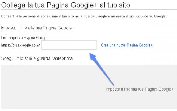 collega pagina google plus