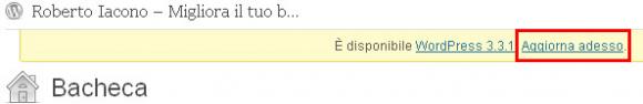 aggiornamento automatico wordpress all'ultima versione