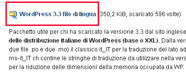 localizzare wordpress, tradurre in italiano
