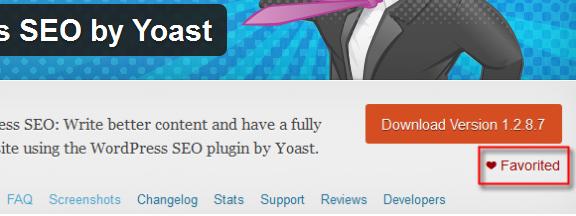 Funzionalità Favoriti su WordPress.org