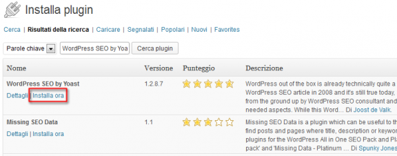 Installare plugin in WordPress