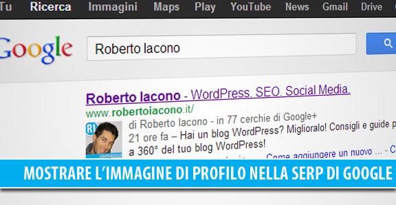 Mostrare l'immagine di profilo nelle ricerche SERP di Google per WordPress
