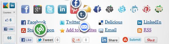 Migliori plugin WordPress per inserire pulsanti sociali
