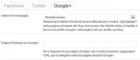 scheda google plus