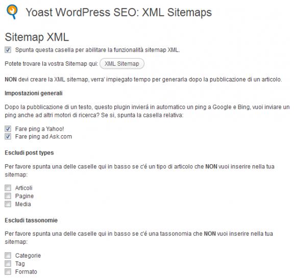 Sitemap XML - WordPress SEO by yoast