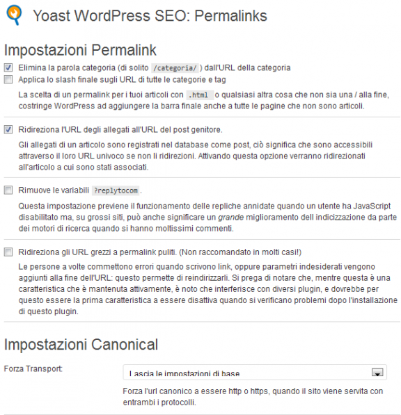 Permalink - WordPress SEO by yoast