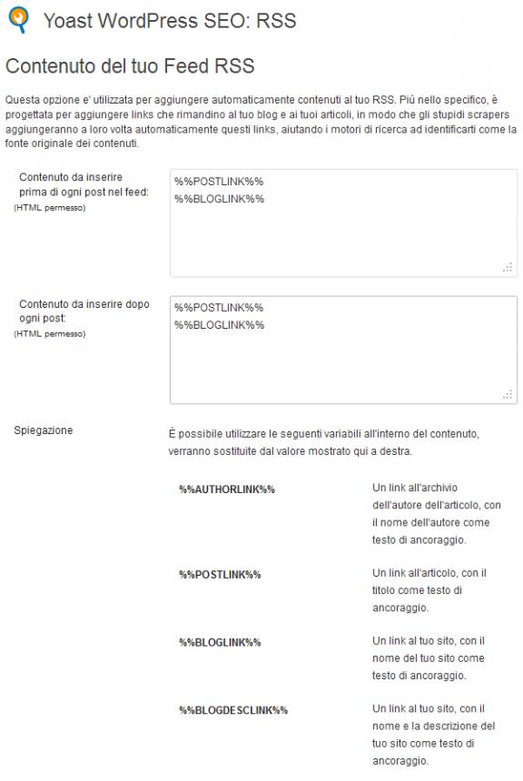 RSS - WordPress SEO by yoast