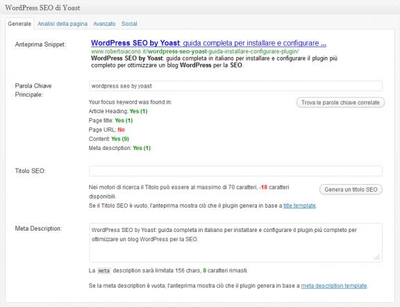 SEO Box - WordPress SEO by yoast
