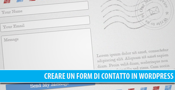 Creare un form di contatto in WordPress: Contact Form 7