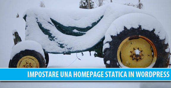Impostare una homepage statica in WordPress