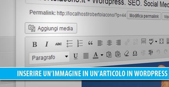 Come inserire un'immagine in un articolo in WordPress