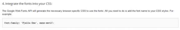 integrare font google