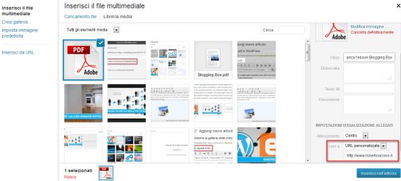 URL personalizzata