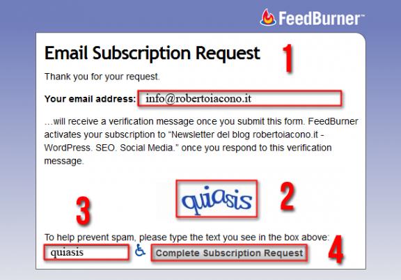Inserisci la tua email