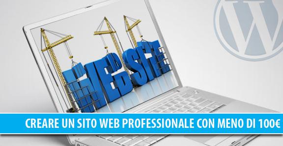 Creare un sito web professionale con meno di 100€
