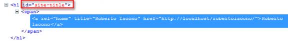 Codice HTML del titolo