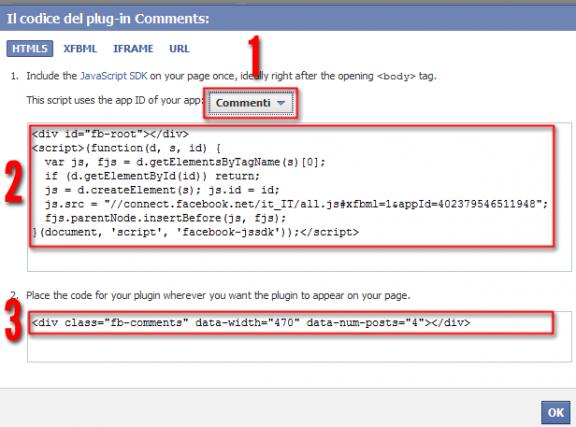 codice comment box
