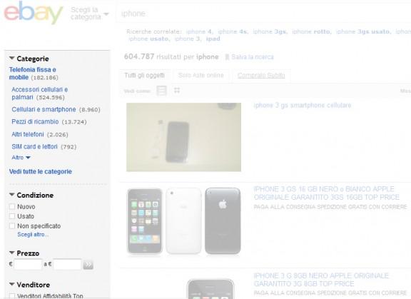 ebay - filtro