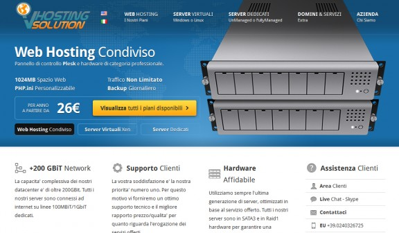 VHosting - homepage