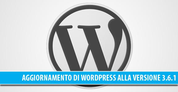Aggiornamento WordPress alla versione 3.6.1