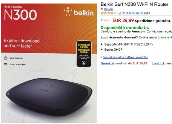 Belkin Surf N300 Wi-Fi N Router