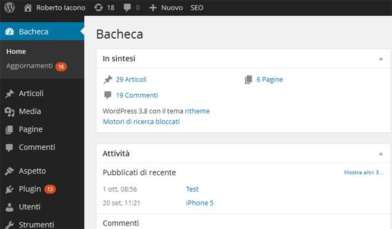 bacheca wp 3.8