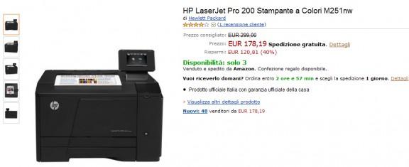 HP LaserJet Pro 200 Stampante a Colori M251nw