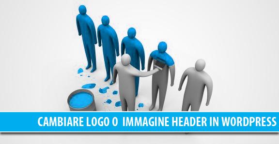 Come cambiare il logo o l'immagine header di un blog WordPress