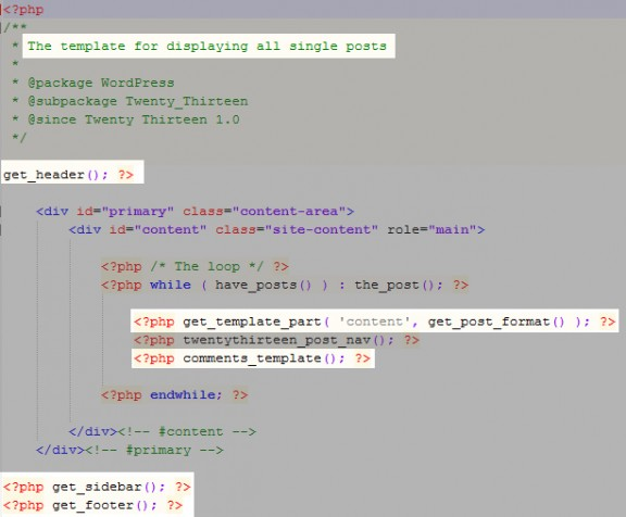 codice single.php