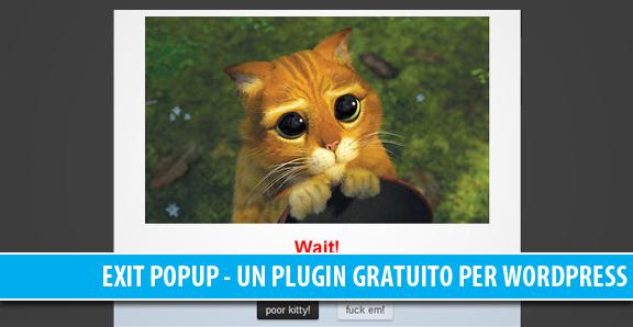 Exit popup, un buon plugin gratuito per WordPress